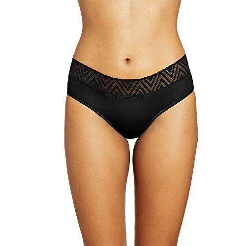 """<p><strong>THINX</strong></p><p>amazon.com</p><p><strong>$34.00</strong></p><p><a href=""""https://www.amazon.com/dp/B086163KVR?tag=syn-yahoo-20&ascsubtag=%5Bartid%7C10055.g.27421796%5Bsrc%7Cyahoo-us"""" rel=""""nofollow noopener"""" target=""""_blank"""" data-ylk=""""slk:Shop Now"""" class=""""link rapid-noclick-resp"""">Shop Now</a></p><p><a href=""""https://go.redirectingat.com?id=74968X1596630&url=https%3A%2F%2Fwww.shethinx.com%2F&sref=https%3A%2F%2Fwww.goodhousekeeping.com%2Fhealth-products%2Fg27421796%2Fbest-period-panties%2F"""" rel=""""nofollow noopener"""" target=""""_blank"""" data-ylk=""""slk:Thinx"""" class=""""link rapid-noclick-resp"""">Thinx</a> is probably the most popular brand on this list, and it's for two good reasons: 1) its marketing campaigns are everywhere and 2) our testers loved the product. One person thought they would never find period panties that were <strong>stylish, comfortable, <em>and</em> functional</strong> — until she tested out a pair of Thinx. While they scored the overall highest in our tests, we found that they still took longer to absorb than a maxi pad. </p><p><strong>Absorbency:</strong> 2 regular tampons<br><strong><strong>Styles:</strong> </strong>Hiphugger, super hiphugger, sport, super hi-waist, hi-waist, boyshort, cheeky, thong, cotton brief, cotton bikini, cotton thong, super cotton brief, air hiphugger, and air bikini</p>"""