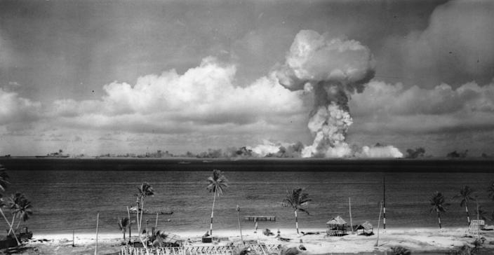 """<p>The consequences of this development weren't unintended. The creation of the Manhattan Project took the collective know-how of engineers, physicists, and chemists to <a href=""""https://www.history.com/topics/world-war-ii/the-manhattan-project"""" rel=""""nofollow noopener"""" target=""""_blank"""" data-ylk=""""slk:develop an atomic bomb by 1945"""" class=""""link rapid-noclick-resp"""">develop an atomic bomb by 1945</a>, first tested in the New Mexico desert. The final result was the destruction of two Japanese cities, the ending of World War II, and the ushering in of the Cold War era.</p>"""