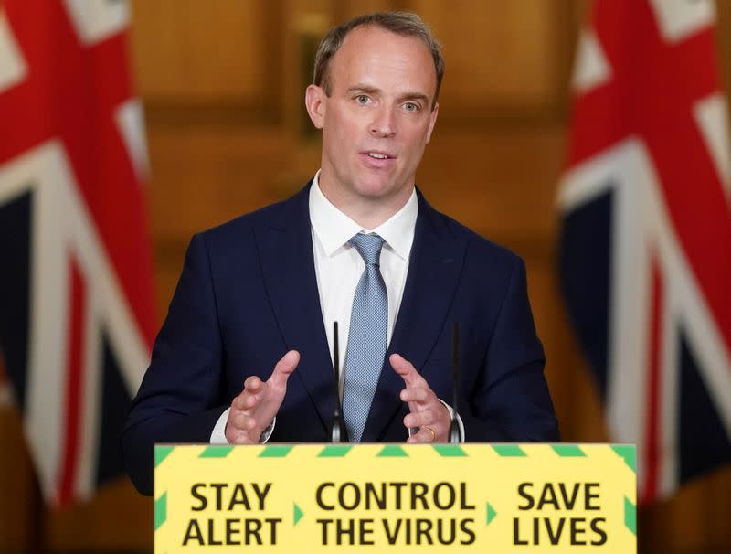 Britain will talk to partners in U.N. over China law move, says Raab