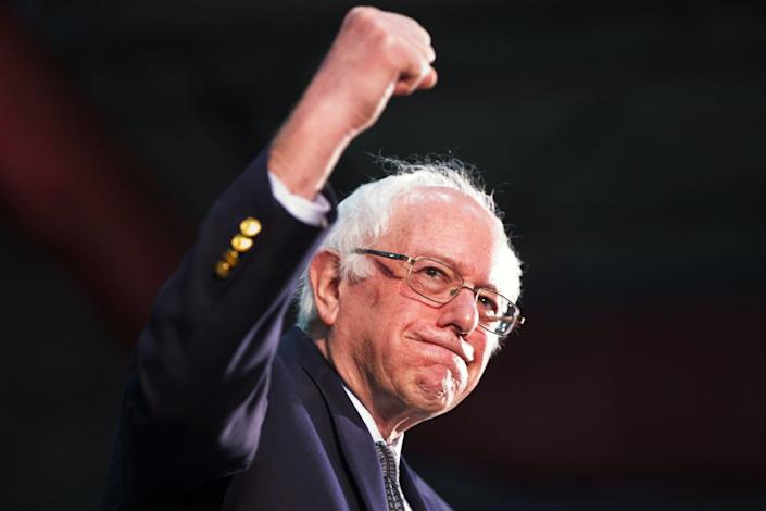 """Even if he falls short of the nomination, Bernie Sanders could gain leverage by picking up more delegates. <span class=""""copyright"""">(Jacquelyn Martin / Associated Press)</span>"""