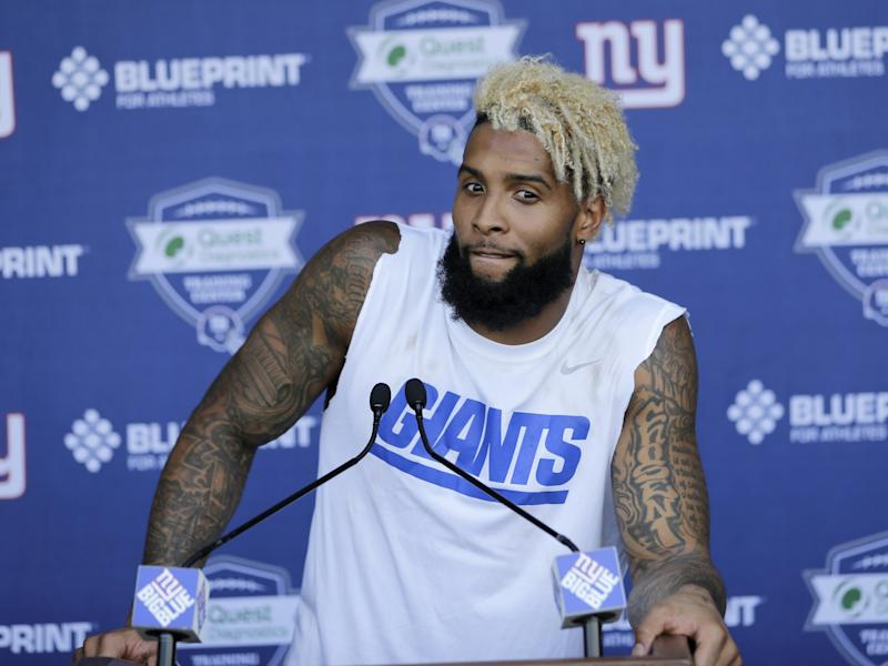 promo code 24e1d b3872 Giants' Odell Beckham Jr. adds another tattoo, and it's ...