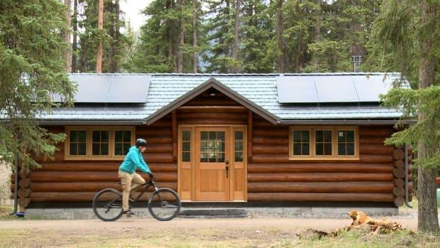 The Rundle Cabin spent most of its life as a storage shed, but is now home base for a children's wilderness program in Banff.  (Helen Pike/CBC - image credit)