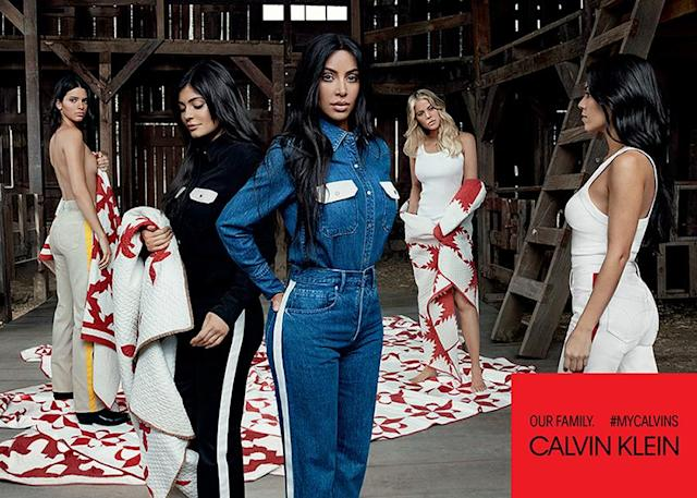 <p>The Kardashian family stars in the #MyCalvins campaign for Calvin Klein Jeans. </p>