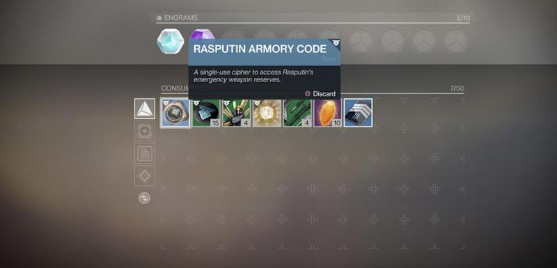 Destiny 2 Rasputin Armory Codes How To Find Amp Use In