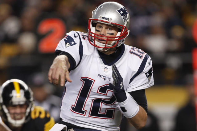 New England Patriots quarterback Tom Brady (12) is back to make another run at a Super Bowl. (AP)