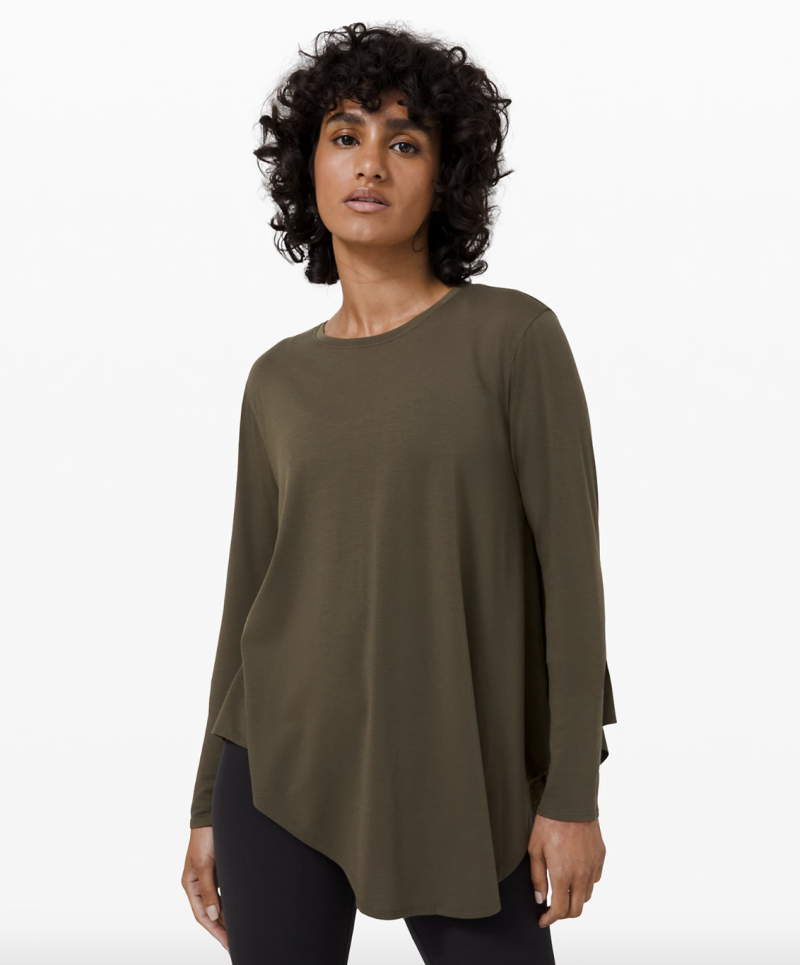 Lifted Balance Long Sleeve in dark olive