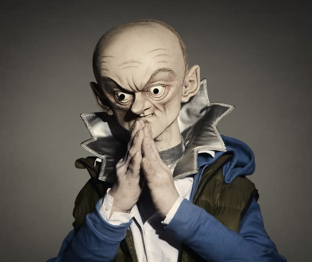 The Spitting Images puppet of Dominic Cummings