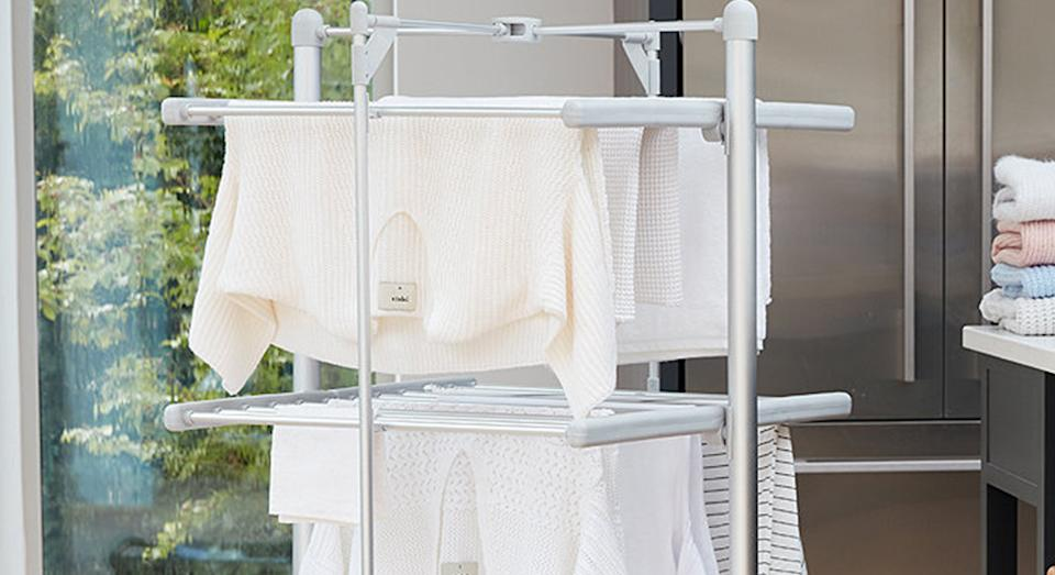 This heated airer is about to make laundry in winter a whole lot easier. (Dry:Soon/Lakeland)