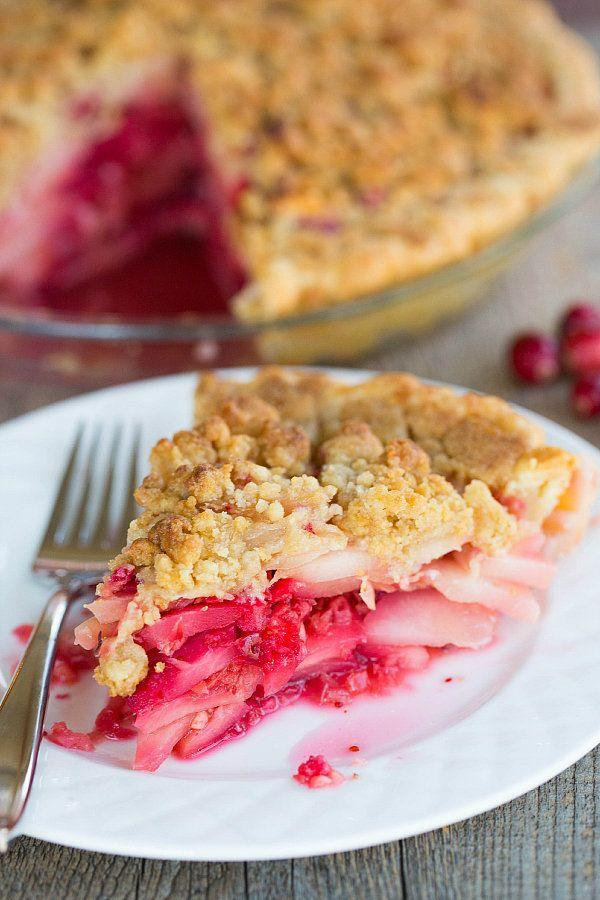 """<strong>Get the <a href=""""http://www.browneyedbaker.com/cranberry-ginger-pear-pie/"""" rel=""""nofollow noopener"""" target=""""_blank"""" data-ylk=""""slk:Cranberry Ginger Pear Pie recipe"""" class=""""link rapid-noclick-resp"""">Cranberry Ginger Pear Pie recipe</a> from Brown Eyed Baker</strong>"""