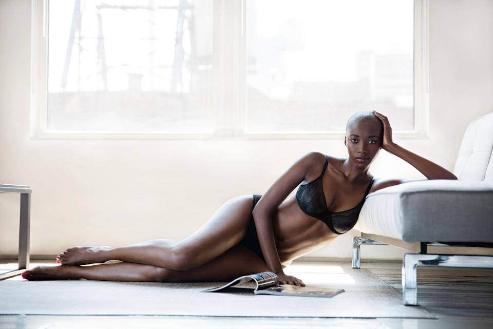 Liberté lingerie, a brand founded by former lingerie model Amber Tolliver, launches its six piece capsule collection after it successfully completes its Kickstarter campaign. (Photo: Liberté)