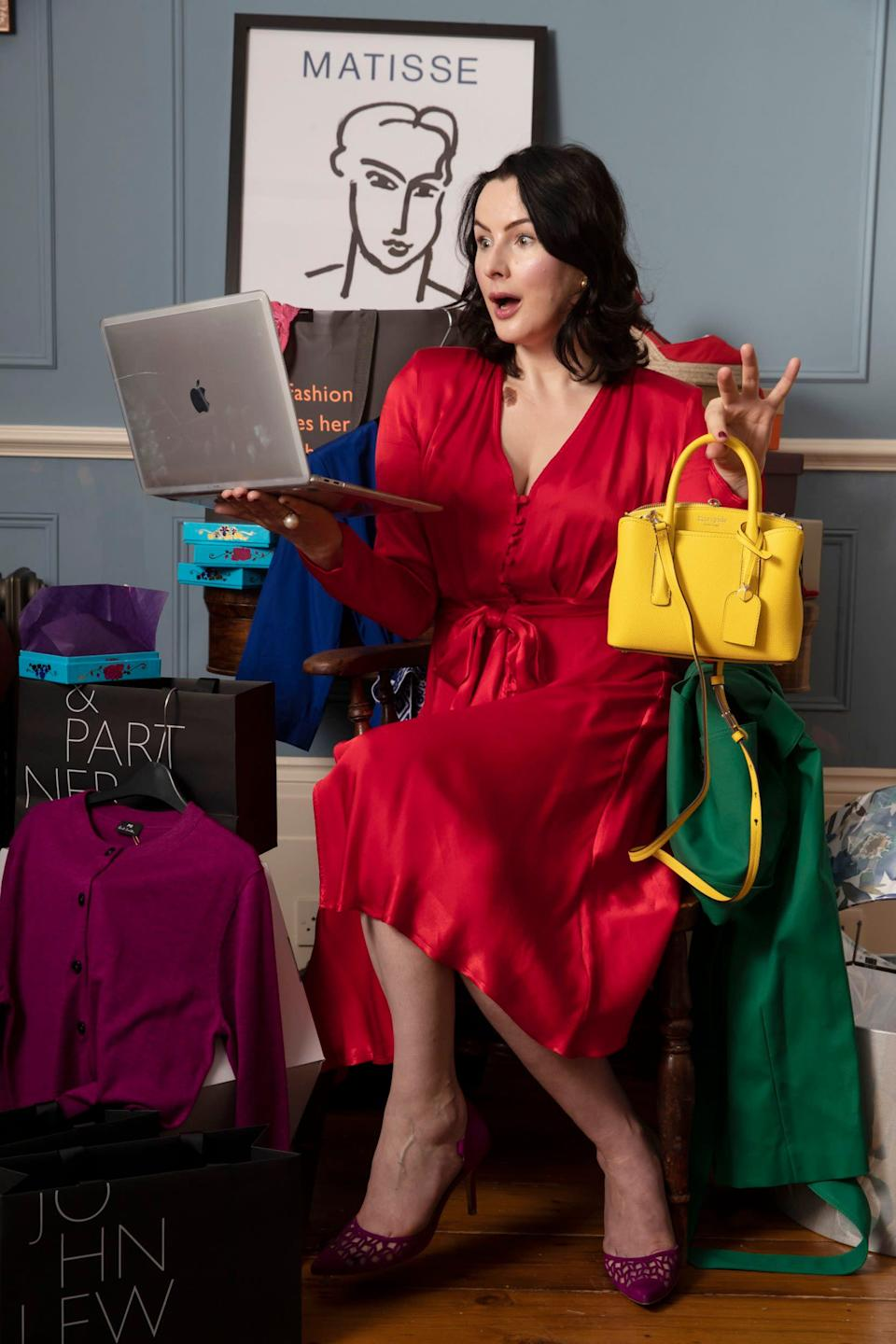 Hannah Betts' top buys included a Matisse poster and a yellow crossbody bag