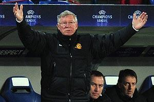 Manager Sir Alex Ferguson failed to find a way to get his team going after falling behind early