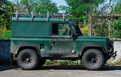 "<span class=""caption"">The Land Rover Defender is one of the world's most iconic vehicles – as much for its functionality as its style.</span> <span class=""attribution""><a class=""link rapid-noclick-resp"" href=""https://www.shutterstock.com/image-photo/rimington-lancashireuk-may-30th-2020-old-1830883466"" rel=""nofollow noopener"" target=""_blank"" data-ylk=""slk:Michael J P/Shutterstock"">Michael J P/Shutterstock</a></span>"