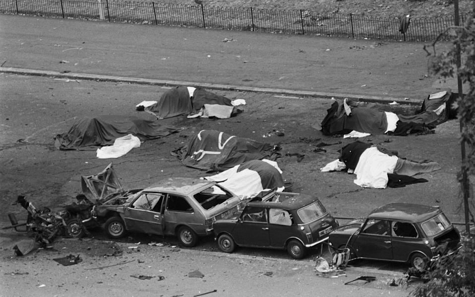 Four soldiers were killed and 31 people injured in the Hyde Park bombing of 1982 - PA