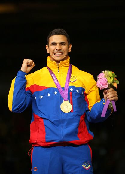 Limardo's gold, in individual epee, was Venezuela's first for 44 years. President Hugo Chavez 
