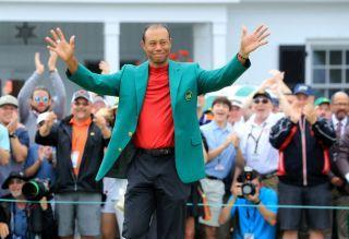 Tiger Woods, after winning The Masters this past Sunday. Is Kyle Busch the Tiger Woods of NASCAR?