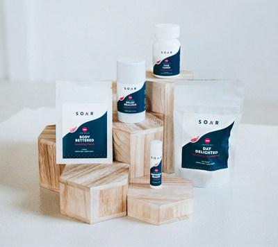 Today, SOAR™ announced the official launch of its brand and five high performing, hemp-derived CBD products - Relief Realized Healing Stick, Body Bettered Soothing Patches, Time Taken Daily Gel Caps, Day Delighted Wellness Gummies and a Softness Sealed Lip Balm - to help enthusiastic minds and bodies push farther and soar higher.