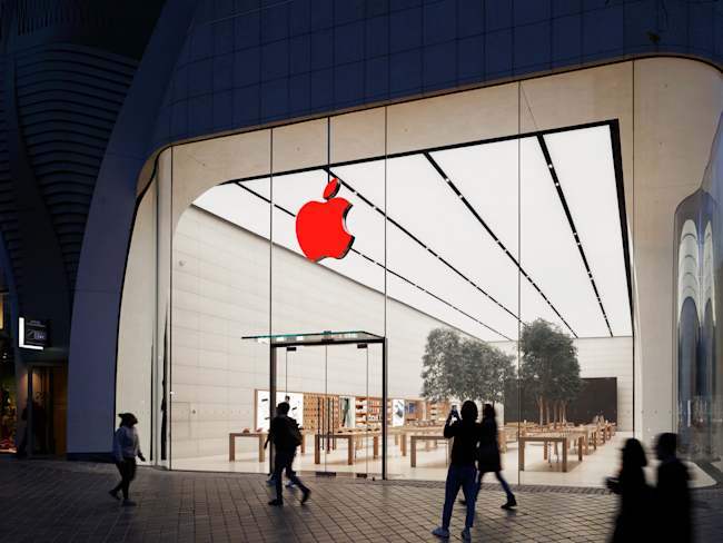 Apple Store red