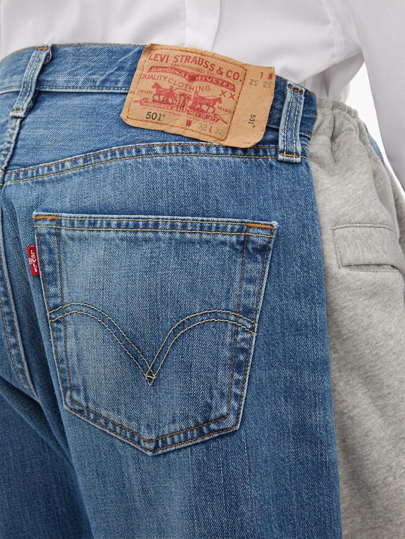 A closer look at the half-jean, half-joggers [Photo: Matches Fashion]