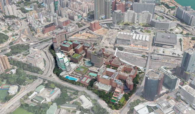The PolyU campus has descended from learning hub to the scene of some of the worst clashes since the protest crisis was sparked in June. Photo: Google Maps