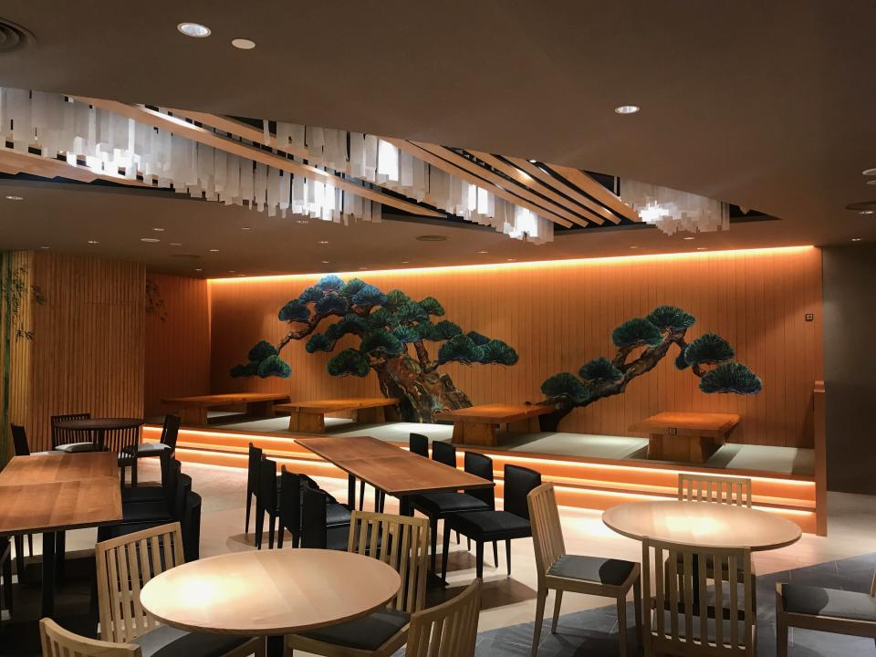 Tatami seating options are available at the new Japan gourmet food hall SORA. (Photo: Yahoo Lifestyle Singapore)