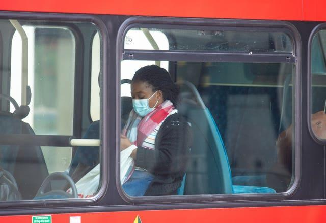 Face coverings on public transport were made mandatory in June 2020