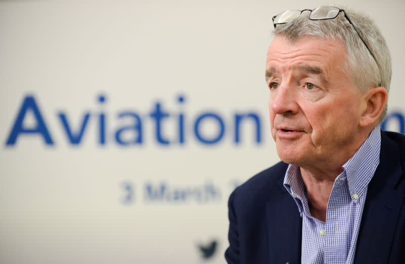 FILE PHOTO: Ryanair Chief Executive Michael O'Leary attends the Europe Aviation Summit in Brussels