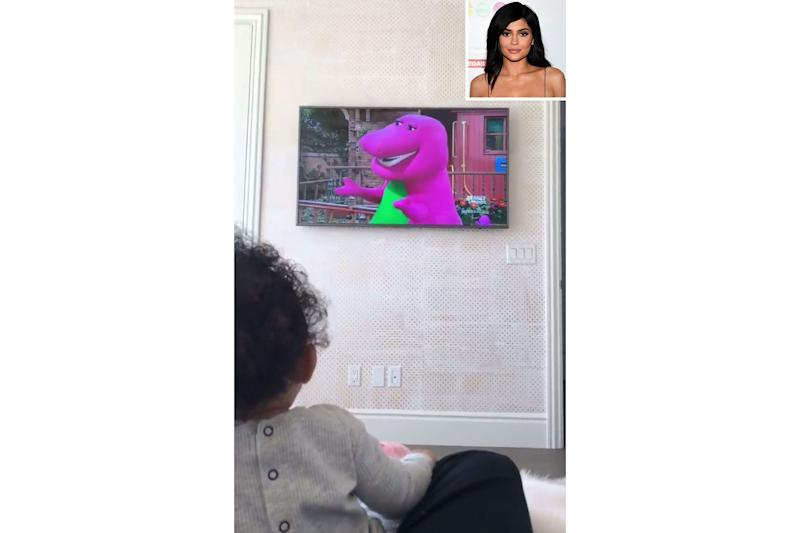 I Love You!' Kylie Jenner's Daughter Stormi Watches Barney