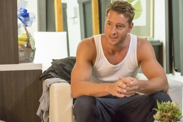 <p>Justin Hartley as Kevin in NBC's <i>This Is Us</i>.<br><br>(Photo: Ron Batzdorff/NBC) </p>