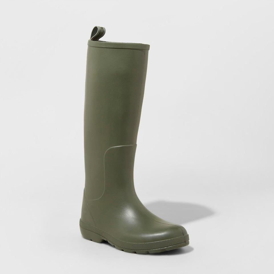 <p>These <span>Totes Cirrus Tall Rain Boots</span> ($50) are great waterproof styles, but they also look polished enough for semi-dressy occasions. For $50, they are a steal!</p>