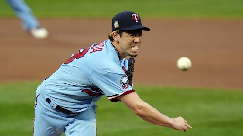 Minnesota Twins pitcher Kenta Maeda of Japan throws against the Detroit Tigers in a baseball game Wednesday, Sept. 23, 2020, in Minneapolis.(AP Photo/Jim Mone)