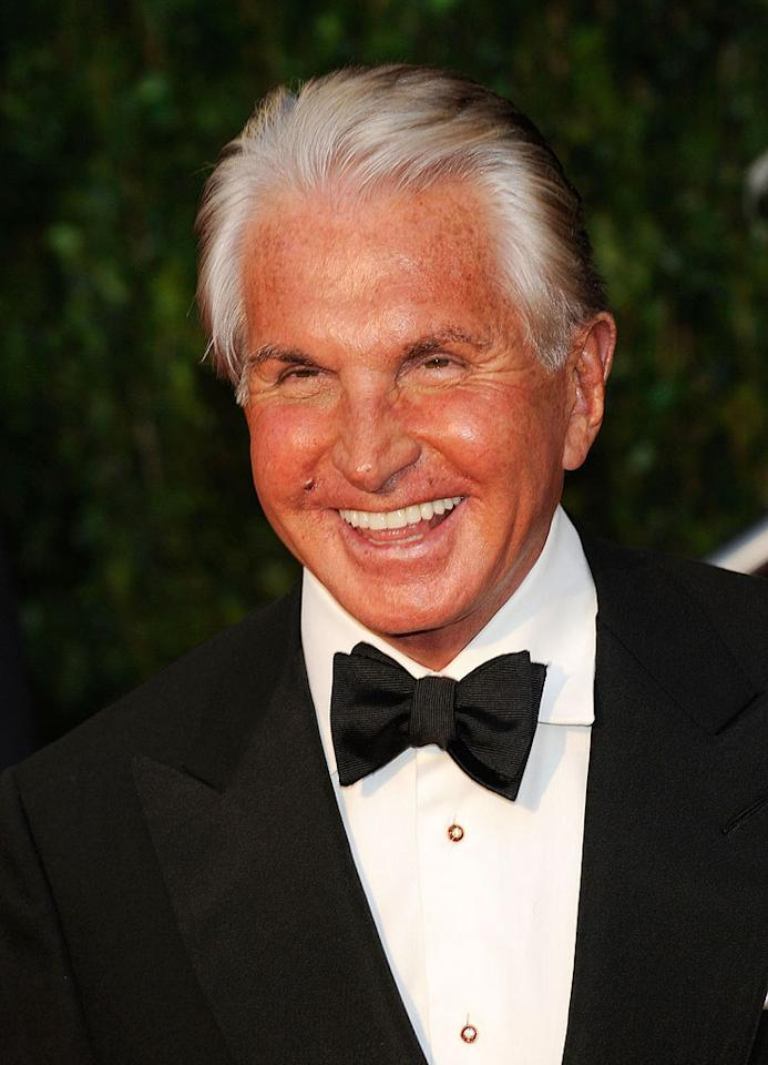 "The king of tan, George Hamilton, so loves being a darker hue that he opened a chain of tanning salons in the late '80s. From the looks of it, he's been baking in them ever since. Ethan Miller/<a href=""http://www.wireimage.com"" target=""new"">WireImage.com</a> - March 9, 2010"
