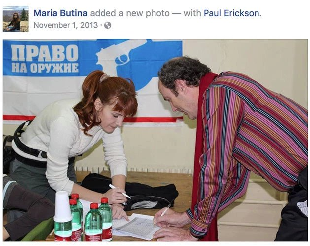 Butina and Erickson in a photo she posted to Facebook in 2013. (Facebook)