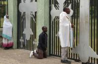 An Orthodox faithful attend the Sunday morning prayer session at the Zere Abrok church in Bahir Dar