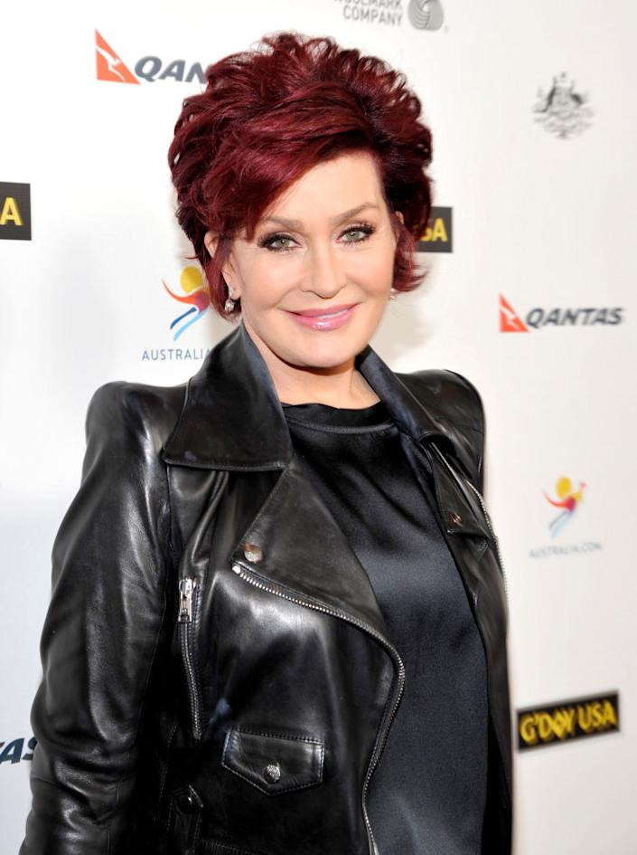 Sharon Osbourne has been dying her hair red weekly for 18 years, pictured here in 2014 (Getty)