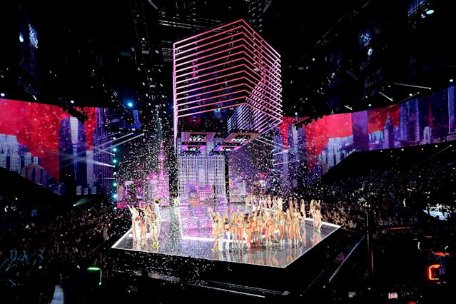 A look at the stage during the 2017 Victoria's Secret Fashion Show in Shanghai's Mercedes-Benz Arena. (Photo: Matt Winkelmeyer/Getty Images for Victoria's Secret)
