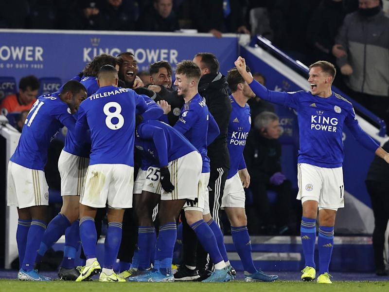Kelechi Iheanacho's dramatic stoppage time winner keeps Leicester within eight points of league leaders Liverpool: Getty