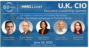 Join the top CIOs and business technology executives from the U.K. and across the world as we explore the CIO's role in creating agility and speed across the business.