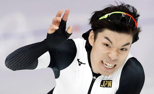 Speed Skating - Pyeongchang 2018 Winter Olympics - Men's 1000m competition finals - Gangneung Oval - Gangneung, South Korea - February 23, 2018 - Tsubasa Hasegawa of Japan reacts after his race. REUTERS/Damir Sagolj TPX IMAGES OF THE DAY