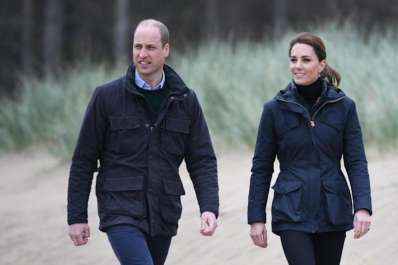 The Duke and Duchess of Cambridge during a visit to Newborough Beach in North Wales last week [Photo: PA]