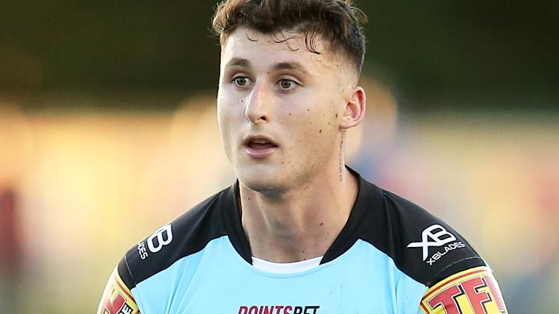 Bronson Xerri, pictured here in action for the Sharks in 2019.