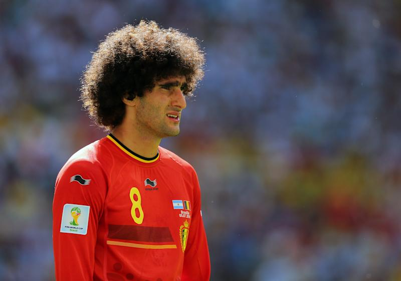 """What should I do if they pull me by the hair? It sounds like a joke, but it really hurts,"" Fellaini once said. So it's real!"