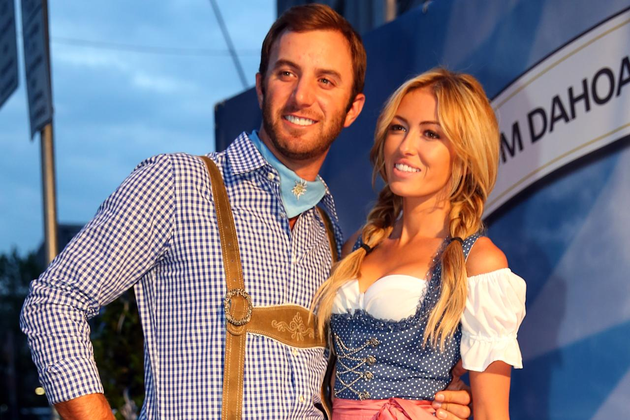 Dustin Johnson And Paulina Gretzky Party At The Bmw International