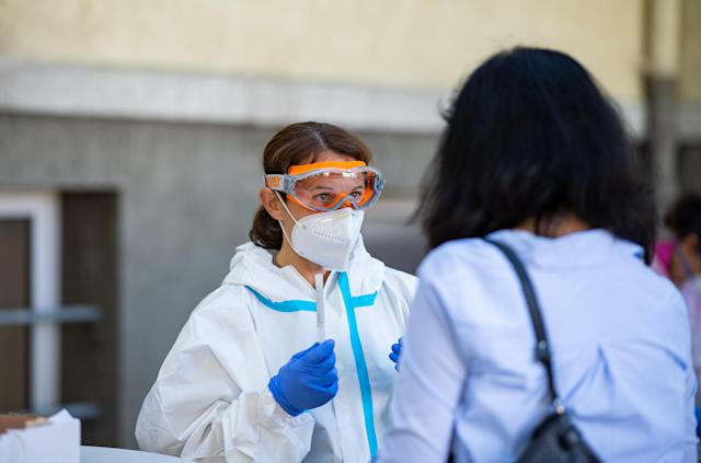 Countries such as Germany have responded quickly to fresh COVID-19 outbreaks, WHO Europe said. (Guido Kirchner via Getty Images)