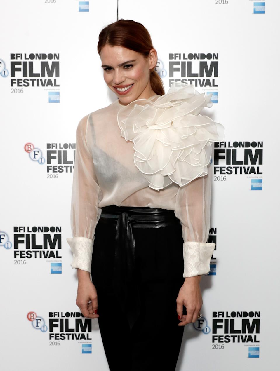 LONDON, ENGLAND - OCTOBER 13: Actress Billie Piper attends the 'City Of Tiny Lights' screening in association with Mobo Films during the 60th BFI London Film Festival at Picturehouse Central on October 13, 2016 in London, England. (Photo by John Phillips/Getty Images for BFI)