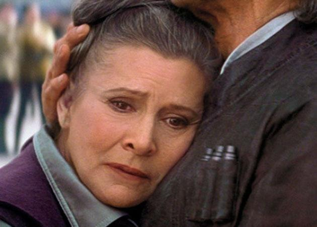 Carrie as Leia in the latest Star Wars film. Source: Lucasfilm/Disney