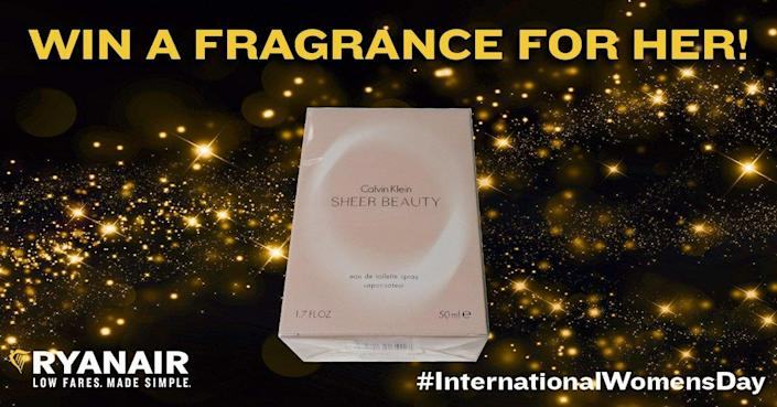 <p>As Ryanair points out, International Women's Day is all about giving women gifts. And there's no gift that women love more than perfume. </p>