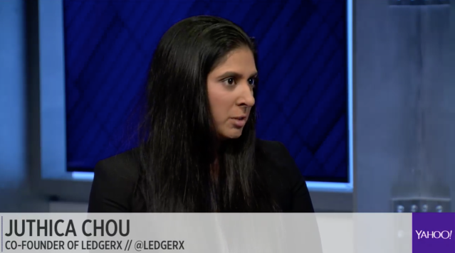 Juthica Chou, cofounder of LedgerX, on Yahoo Finance Midday Movers