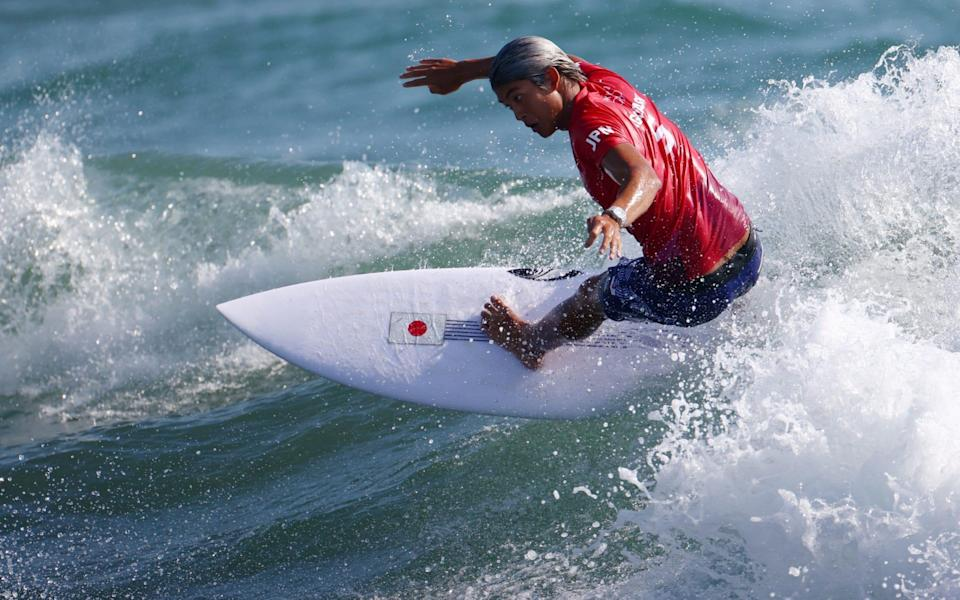 Kanoa Igarashi rode the waves very well to win heat two - REUTERS