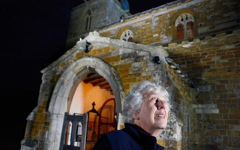 Gail Rudge at All Saints Church at Braunston in Rutland, where bats have roosted and caused damage  - Credit: ./Photo Copyright John Robertson, 2017.